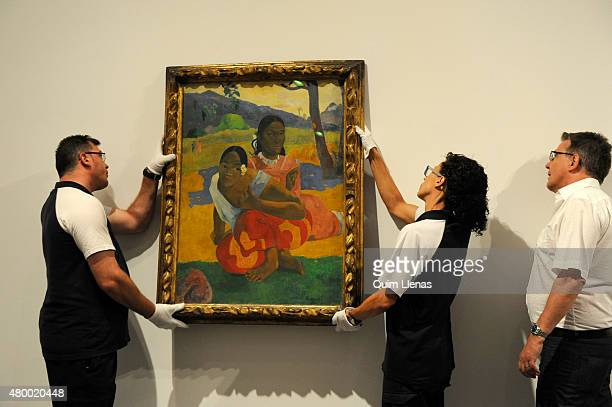 Paul Gauguin painting 'Nafea faa ipoipo' is seen at Reina Sofia Museum on July 3 2015 in Madrid Spain The painting has reportedly been sold by a...