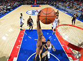 Paul George of the Indiana Pacers dunks the ball against the Philadelphia 76ers at Wells Fargo Center on November 18 2015 in Philadelphia...