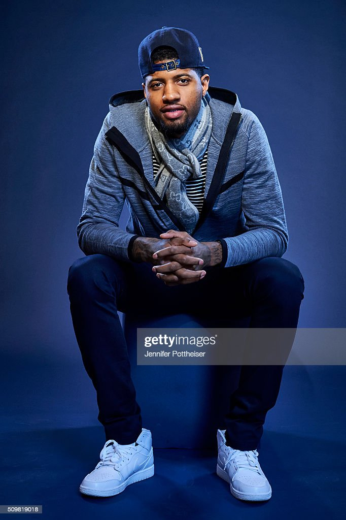 <a gi-track='captionPersonalityLinkClicked' href=/galleries/search?phrase=Paul+George+-+Basketball+Player&family=editorial&specificpeople=7235030 ng-click='$event.stopPropagation()'>Paul George</a> #13 of the Indiana Pacers poses for a portrait during NBA All-Star Weekend on February 12, 2016 at the Sheraton Centre in Toronto, Ontario Canada.