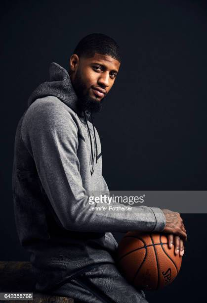 Paul George of the Indiana Pacers poses for portraits during the NBAE Circuit as part of 2017 AllStar Weekend at the RitzCarlton Hotel on February 17...