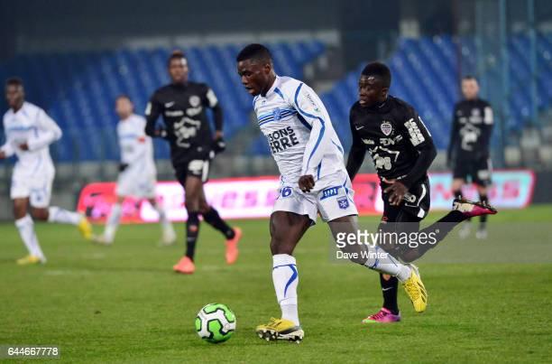 Paul Georges NTEP Auxerre / Dijon 30eme journee de Ligue2 Photo Dave Winter / Icon Sport