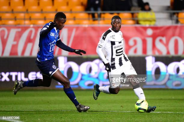Paul Georges NTEP / Babacar GUEYE Troyes / Rennes 21eme journee de Ligue 1 Photo Dave Winter / Icon Sport