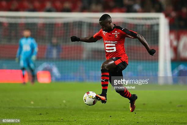 Paul Georges Ntep of Rennes during the French Ligue 1 match between Rennes and Toulouse at Roazhon Park on November 25 2016 in Rennes France