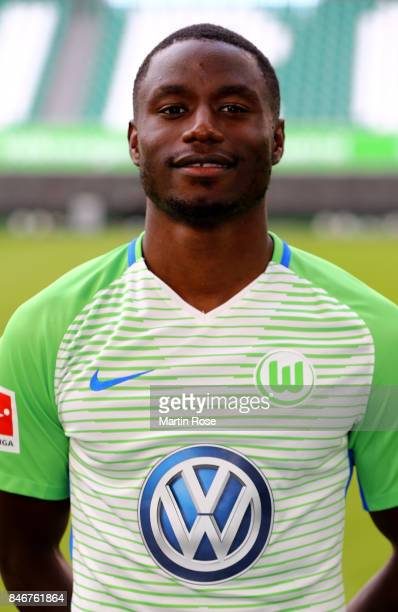 Paul Georges Ntep of VfL Wolfsburg poses during the team presentation at on September 13 2017 in Wolfsburg Germany