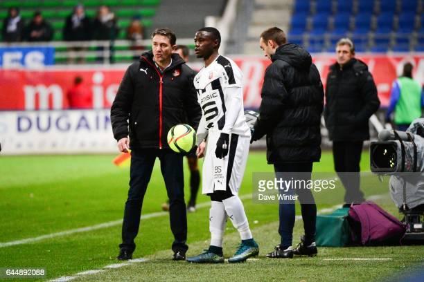 Paul Georges NTEP / Philippe MONTANIER Troyes / Rennes 21eme journee de Ligue 1 Photo Dave Winter / Icon Sport