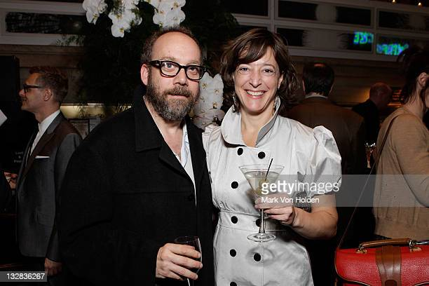 Paul Giamatti and Jennifer Frey attends The 2011 Steinberg Playwright 'Mimi' Awards presented by The Harold and Mimi Steinberg Charitable Trust at...