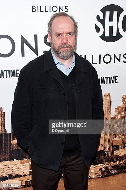 Paul Giamatti attends the 'Billions' series premiere at the Museum of Modern Art on January 7 2016 in New York City