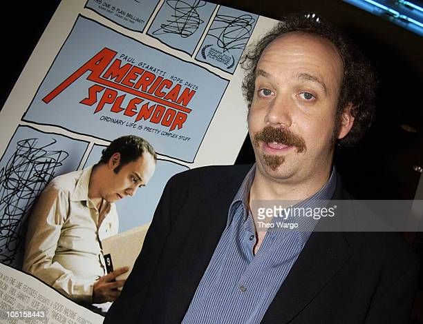 Paul Giamatti during 'American Splendor' New York Premiere at Chelsea West Theater in New York New York United States