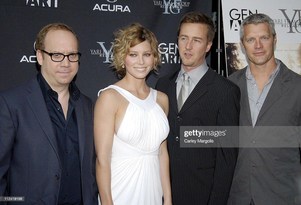Paul Giamatti Jessica Biel Edward Norton and Neil Burger writer/director