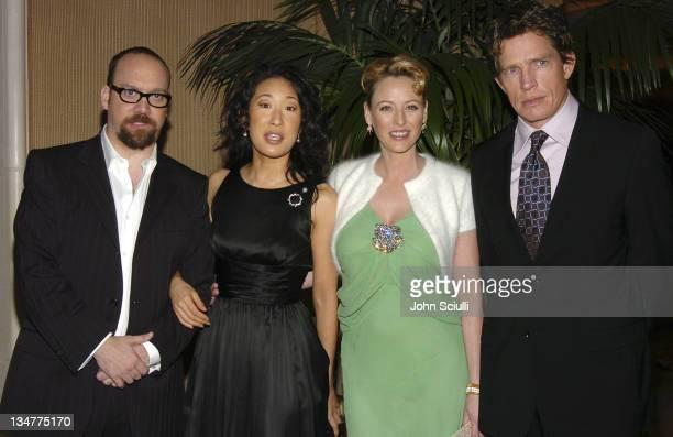 Paul Giamatti Sandra Oh Virginia Madsen and Thomas Haden Church winners of the Best Picture Award for 'Sideways'