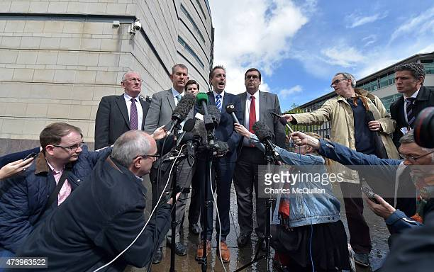 Paul Girvan and Edwin Poots of the Democratic Unionist Party give their reaction after a judge ruled that a Christianrun bakery discriminated against...