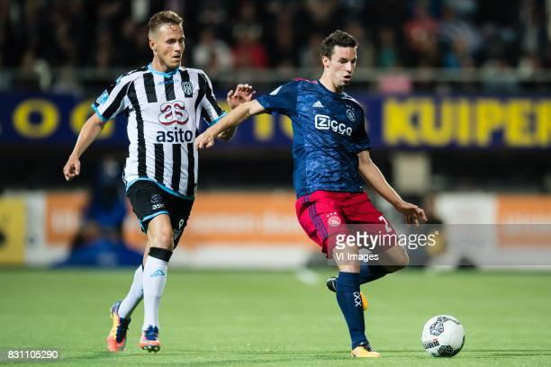Paul Gladon of Heracles Almelo Nick Viergever of Ajax during the Dutch Eredivisie match between Heracles Almelo and Ajax Amsterdam at Polman stadium...