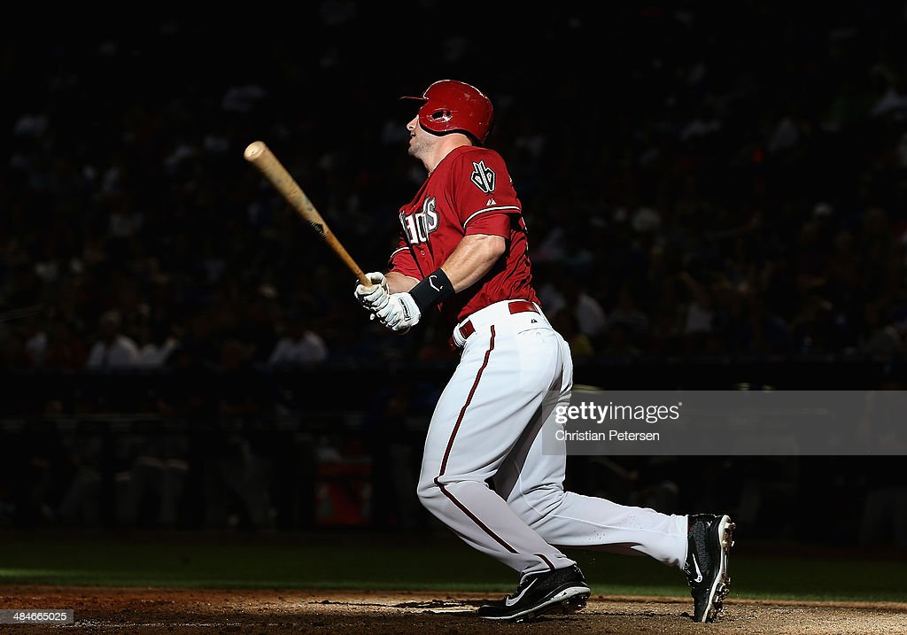 <a gi-track='captionPersonalityLinkClicked' href=/galleries/search?phrase=Paul+Goldschmidt&family=editorial&specificpeople=7511120 ng-click='$event.stopPropagation()'>Paul Goldschmidt</a> #44 of the Arizona Diamondbacks bats against the Los Angeles Dodgers during the eighth inning of the MLB game at Chase Field on April 13, 2014 in Phoenix, Arizona. The Dodgers defeated the Diamondbacks 8-6.