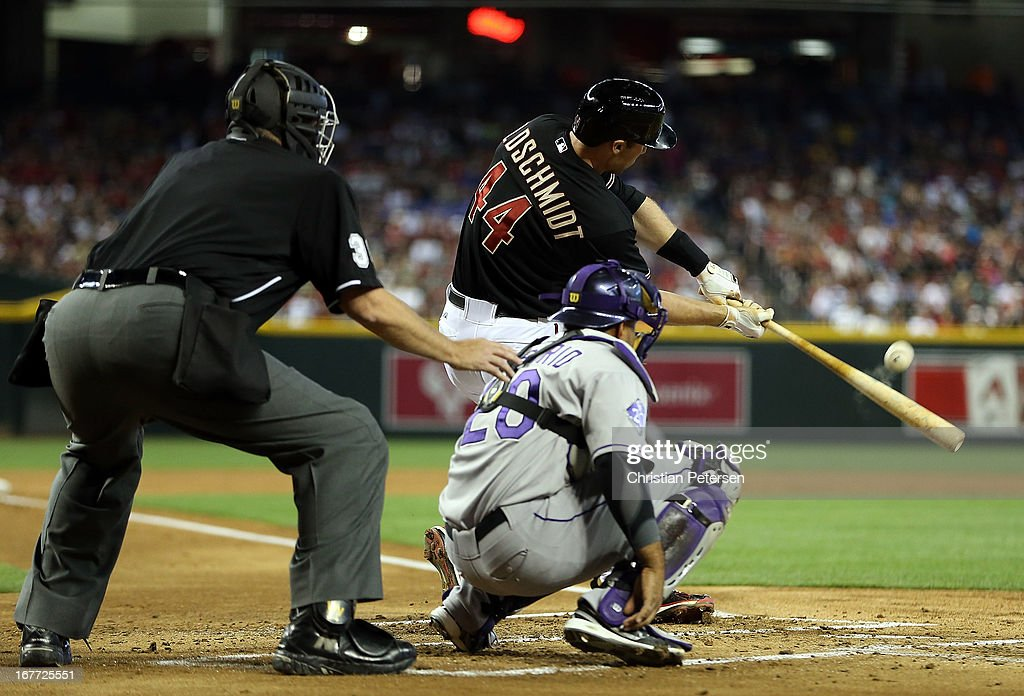 <a gi-track='captionPersonalityLinkClicked' href=/galleries/search?phrase=Paul+Goldschmidt&family=editorial&specificpeople=7511120 ng-click='$event.stopPropagation()'>Paul Goldschmidt</a> #44 of the Arizona Diamondbacks bats against the Colorado Rockies during the MLB game at Chase Field on April 27, 2013 in Phoenix, Arizona.