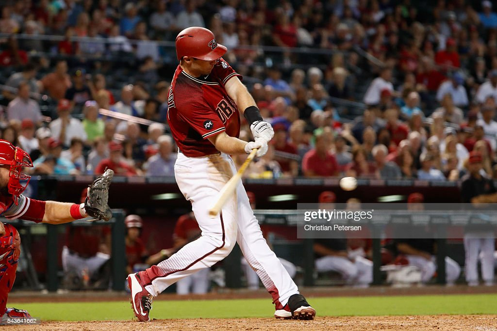 <a gi-track='captionPersonalityLinkClicked' href=/galleries/search?phrase=Paul+Goldschmidt&family=editorial&specificpeople=7511120 ng-click='$event.stopPropagation()'>Paul Goldschmidt</a> #44 of the Arizona Diamondbacks hits a two-run double against the Philadelphia Phillies during the seventh inning of the MLB game at Chase Field on June 29, 2016 in Phoenix, Arizona.