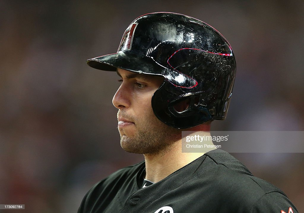 <a gi-track='captionPersonalityLinkClicked' href=/galleries/search?phrase=Paul+Goldschmidt&family=editorial&specificpeople=7511120 ng-click='$event.stopPropagation()'>Paul Goldschmidt</a> #44 of the Arizona Diamondbacks stands on deck during the MLB game against the Colorado Rockies at Chase Field on July 5, 2013 in Phoenix, Arizona. The Diamondbacks defeated the Rockies 5-0.