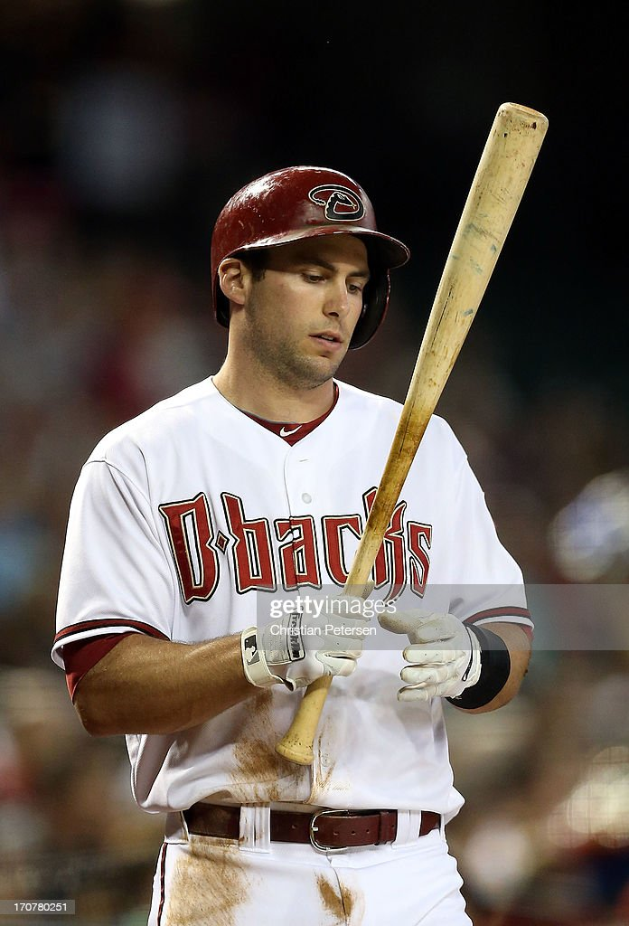 <a gi-track='captionPersonalityLinkClicked' href=/galleries/search?phrase=Paul+Goldschmidt&family=editorial&specificpeople=7511120 ng-click='$event.stopPropagation()'>Paul Goldschmidt</a> #44 of the Arizona Diamondbacks warms up on deck during the MLB game against the Miami Marlins at Chase Field on June 17, 2013 in Phoenix, Arizona.