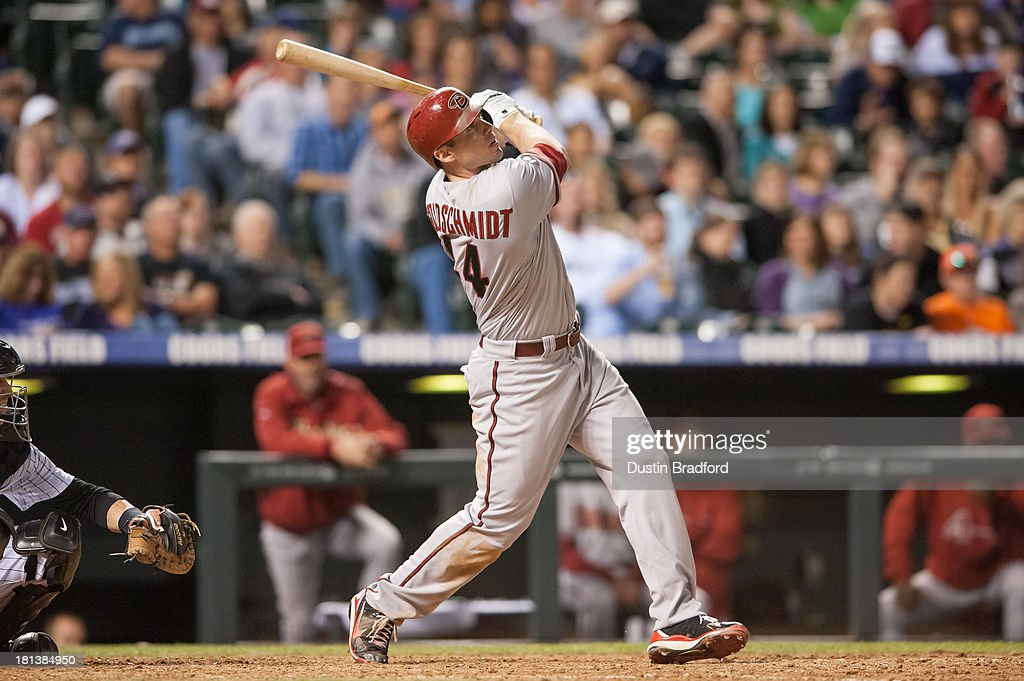<a gi-track='captionPersonalityLinkClicked' href=/galleries/search?phrase=Paul+Goldschmidt&family=editorial&specificpeople=7511120 ng-click='$event.stopPropagation()'>Paul Goldschmidt</a> #44 of the Arizona Diamondbacks watches the flight of a seventh-inning solo home run against the Colorado Rockies during a game at Coors Field on September 20, 2013 in Denver, Colorado.