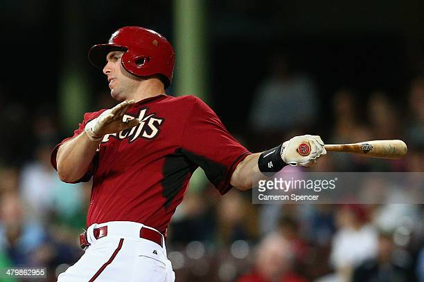 Paul Goldschmidt of the Diamondbacks bats during the match between Team Australia and the Arizona Diamondbacks at Sydney Cricket Ground on March 21...