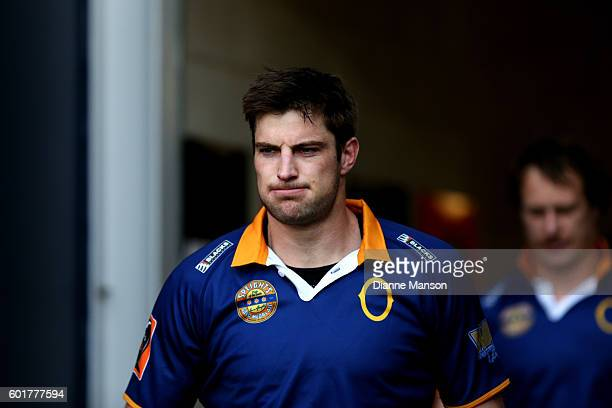 Paul Grant of Otago makes his way out on to the field during the round four Mitre 10 Cup match between Otago and Tasman at Forsyth Barr Stadium on...