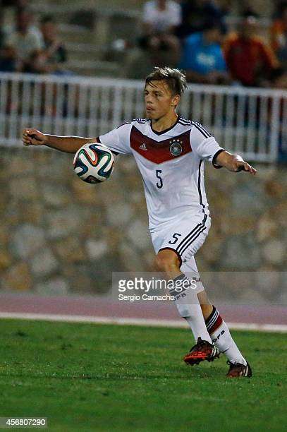Paul Grauschopf of Germany during the international friendly match between U17 Spain and U17 Germany at Campo Municipal de Nerja on October 7 2014 in...