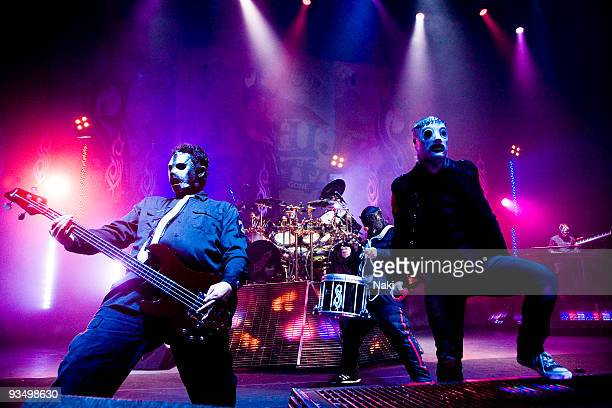 Paul Gray and Corey Taylor of Slipknot perform on stage at Hammersmith Apollo on December 2nd 2008 in London