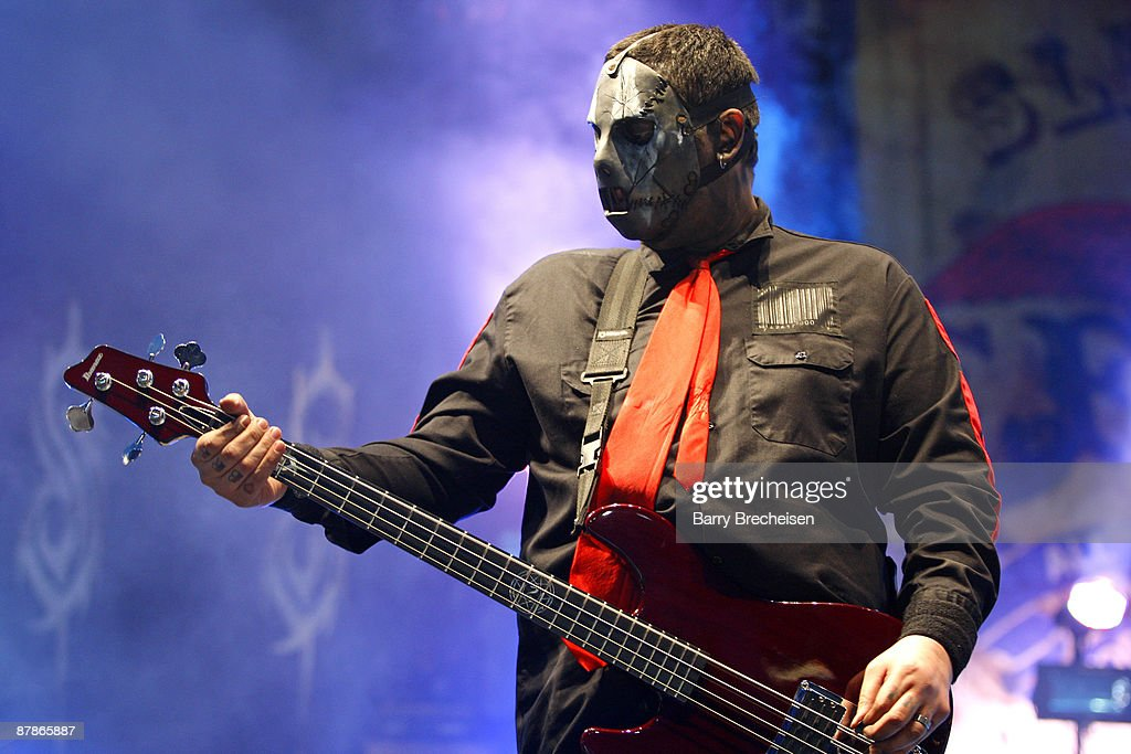 Paul Gray of Slipknot performs during the 2009 Rock On The Range festival at Columbus Crew Stadium on May 16, 2009 in Columbus, Ohio.