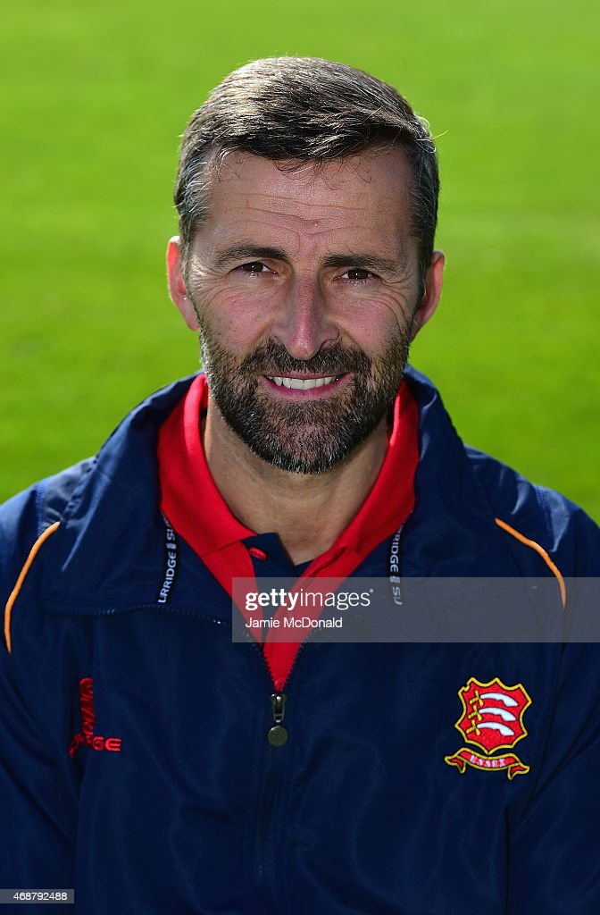 Paul Grayson Essex head coach poses during an Essex CCC Photocall on April 7 2015 in Chelmsford England