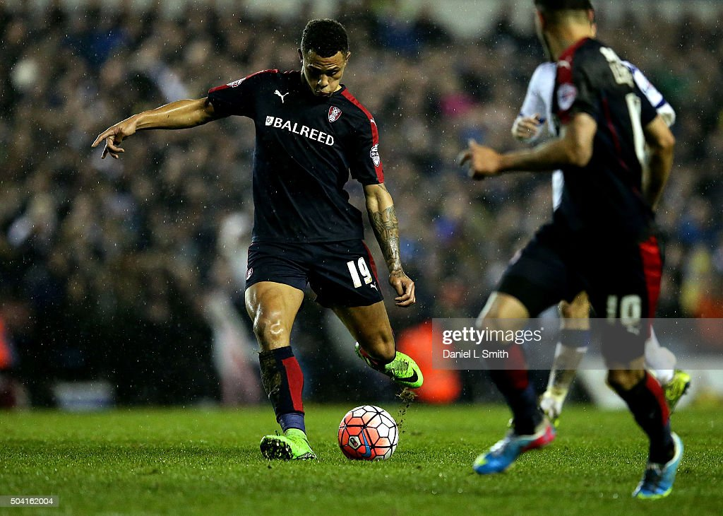 Paul Green of Rotherham United FC in possession during The Emirates FA Cup Third Round match between Leeds United and Rotherham United at Elland Road on January 9, 2016 in Leeds, England.