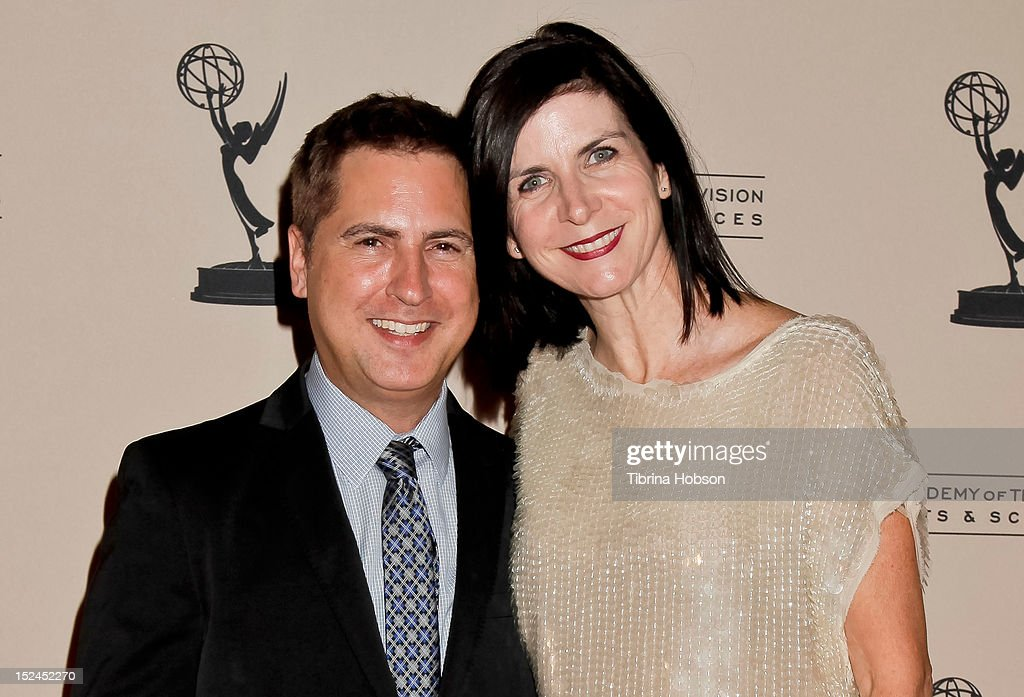 Paul Greenberg and Jackie Harris Greenberg attend the 64th primetime Emmy Awards writers' nominee reception at Academy of Television Arts & Sciences on September 20, 2012 in North Hollywood, California.