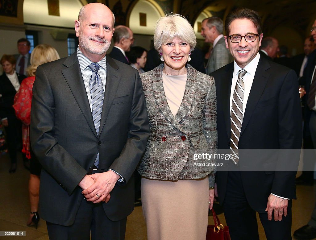 Paul Gruber, Beth Tunick and Keith Champagne attend Master Voices 2016 Spring Benefit Cocktail Hour at Le Parker Meridien on April 28, 2016 in New York City.