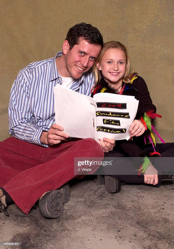 Paul Gutrecht and Skye McCole Bartusiak during 2004 Sundance Film Festival 'The Vest' Portraits at HP Portrait Studio in Park City Utah United States