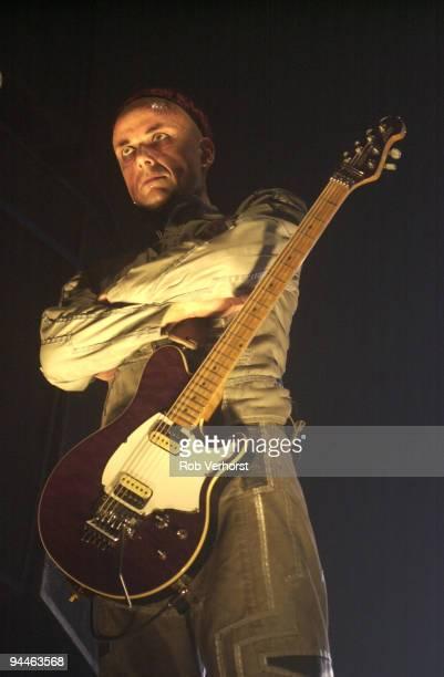 Paul H Landers from Rammstein performs live at Heineken Music Hall in Amsterdam Netherlands on December 03 2001