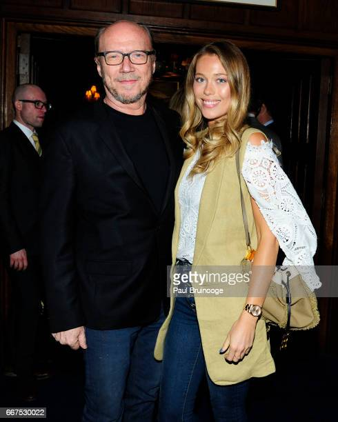 Paul Haggis and Genevieve Barker attend Amazon Studios Bleecker Street Host the After Party for 'The Lost City of Z' at The Explorer's Club on April...