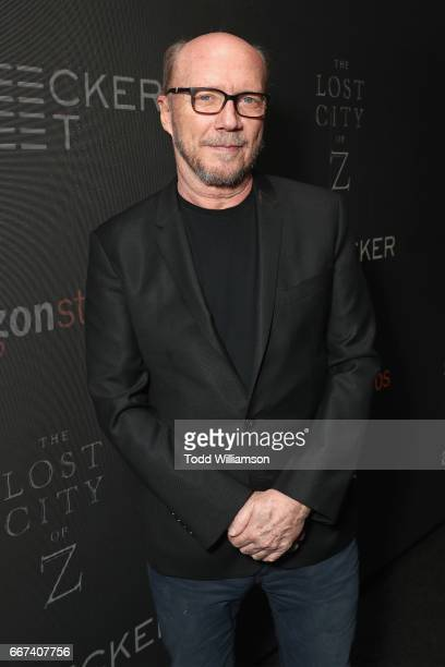 Paul Haggis attends the Amazon Studios and Bleecker Street special screening with Explorer's Club of James Gray's THE LOST CITY OF Z on April 11 2017...