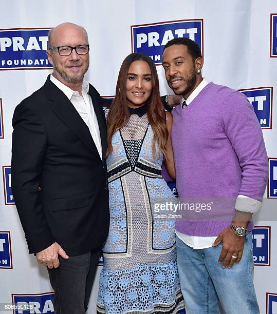 Paul Haggis Eudoxie Bridges and Ludacris attend a friendraiser hosted by Anthony Pratt for Unspoken Angels' founder Eudoxie Bridges and UNICEF...