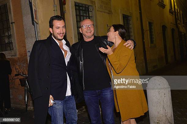 Paul Haggis is dining at Pierlugi's restaurant with Alexandra Dinu and Darina Pavlova seen during the 10th Rome Film Fest on October 20 2015 in Rome...