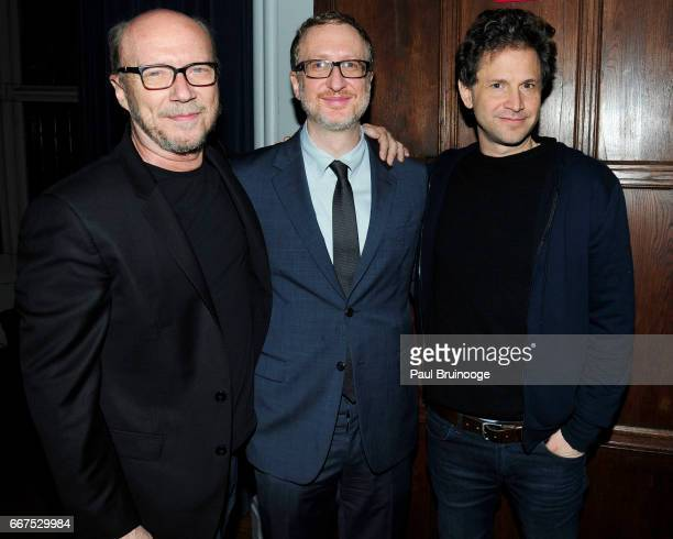 Paul Haggis James Gray and Bennett Miller attend Amazon Studios Bleecker Street Host the After Party for 'The Lost City of Z' at The Explorer's Club...
