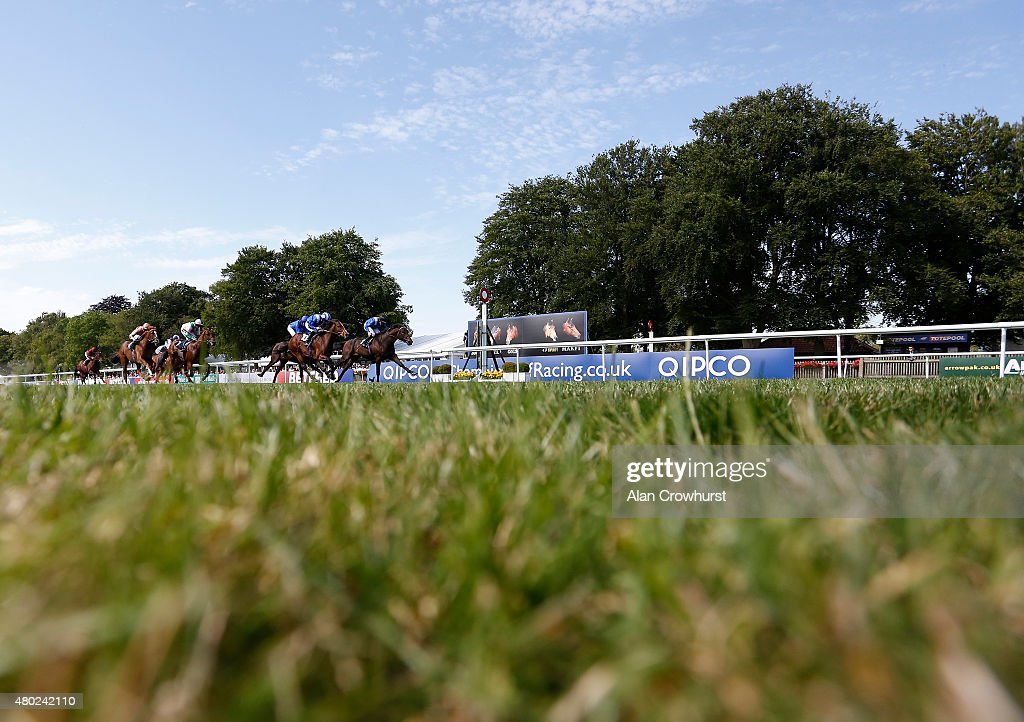 Paul Hanagan riding Manaafidh win The Weatherbys EBF STallions Maiden Stakes at Newmarket racecourse on July 10 2015 in Newmarket England