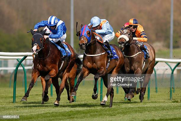 Paul Hanagan riding Waady win The toteplacepot Racing's Favoutite Bet Handicap Stakes at Nottingham racecourse on April 08 2015 in Nottingham England