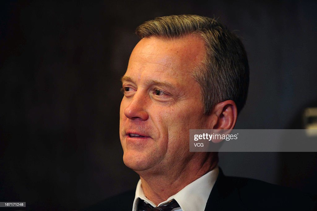 Paul Hanneman, Co-President of 20th Century Fox, talks to the media during the 3rd Beijing International Film Festival at China National Convention Center on April 21, 2013 in Beijing, China.
