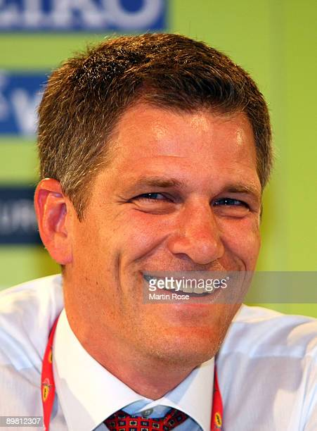 Paul Hardy during the IAAF Press Conference on day one of the 12th IAAF World Athletics Championships at the Olympic Stadium on August 15 2009 in...