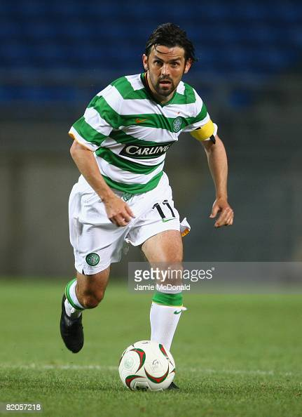Paul Hartley of Celtic is shown in action during the Algarve Challenge Cup match against Cardiff at the Estadio Algarve on July 24 2008 in Faro...