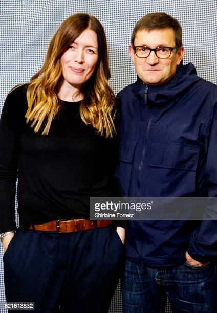 Paul Heaton and Jacqui Abbott pose backstage after performing live and signing copies of their new album 'Crooked Calypso' during an instore session...