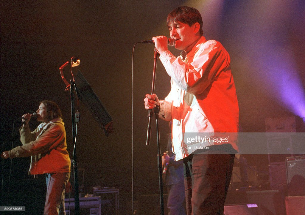Paul Heaton of the Beautiful South performing on stage at The Forum Kentish Town London 20 April 1994