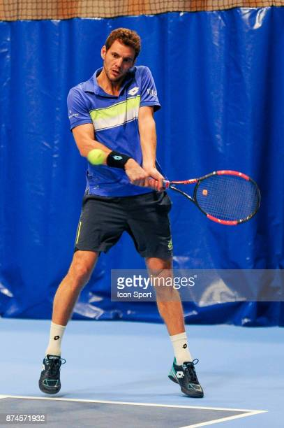 Paul Henri Mathieu during the French Team Championships match between Boulogne Billancourt and Colomiers on November 15 2017 in BoulogneBillancourt...