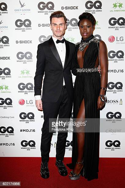 Paul Henry Duval and Aminata Sanogo arrive at the GQ Men of the year Award 2016 at Komische Oper on November 10 2016 in Berlin Germany