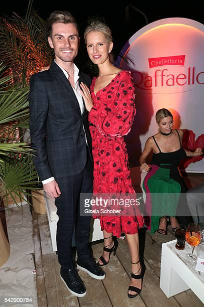 Paul Henry Duval and Karolina Kurkova during the Raffaello Summer Day 2016 to celebrate the 26th anniversary of Raffaello on June 24 2016 in Berlin...