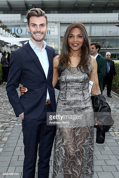 Paul Henry Duval and Valerie Campbell attend the media night of the CHIO 2016 on July 12 2016 in Aachen Germany