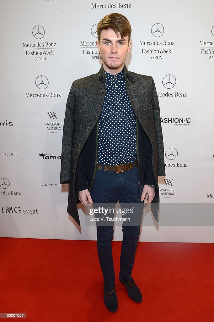 Paul Henry Duval attends the Laurel show during Mercedes-Benz Fashion Week Autumn/Winter 2014/15 at Brandenburg Gate on January 16, 2014 in Berlin, Germany.